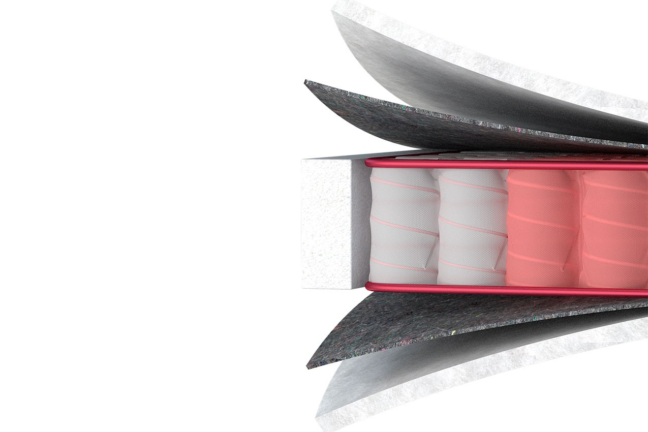 Фото Ортопедический матрас Four Red Carmin от ТМ MatroLuxe - Four Red
