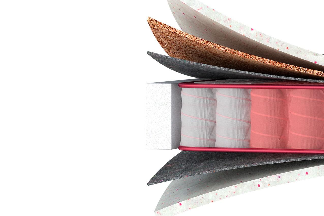 Фото Ортопедический матрас Four Red Marsalla от ТМ MatroLuxe - Four Red