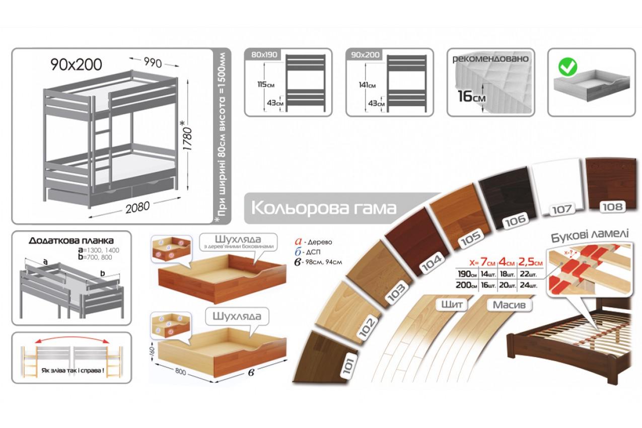 Двухъярусная кровать Дуэт от ТМ ЭСТЕЛЛА в Украине