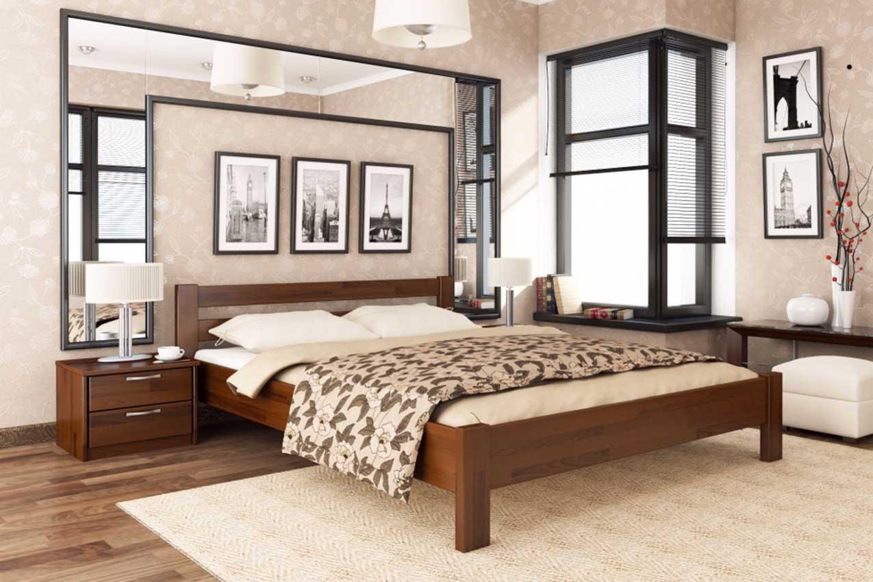 Фото Деревянная кровать Рената от ТМ ЭСТЕЛЛА
