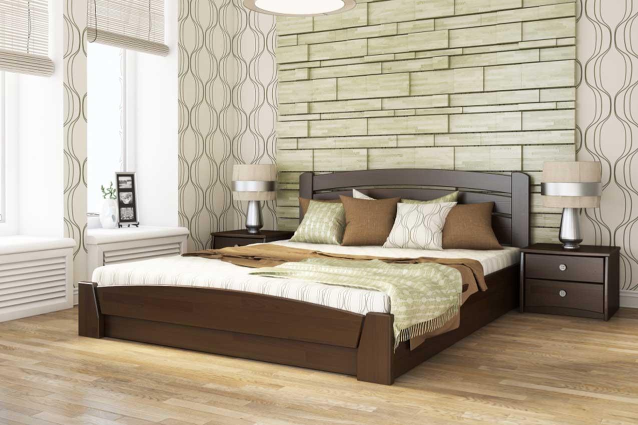 Фото Деревянная кровать Селена Аури от ТМ ЭСТЕЛЛА
