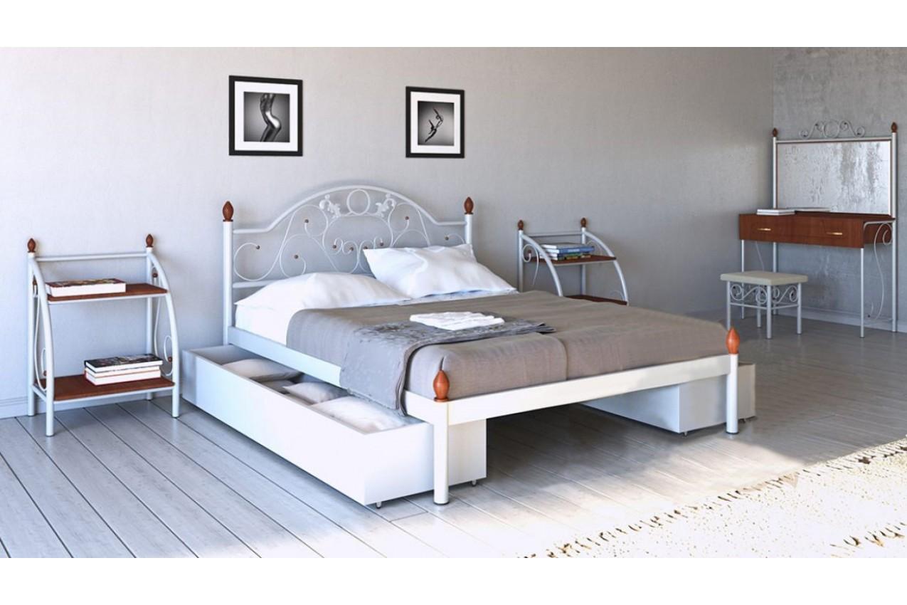Металлическая кровать Франческа от ТМ Металл-Дизайн недорого