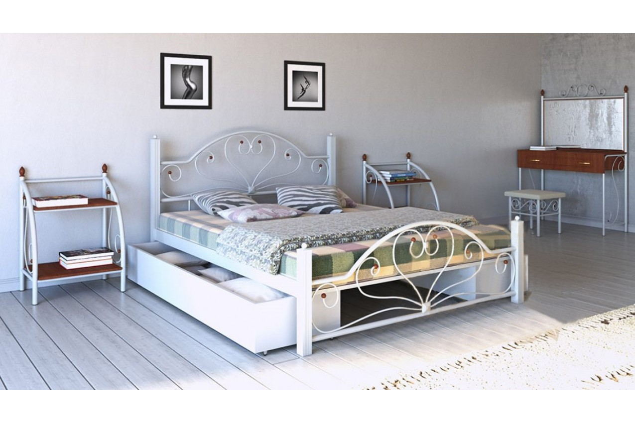 Металлическая кровать Джоконда от ТМ Металл-Дизайн недорого