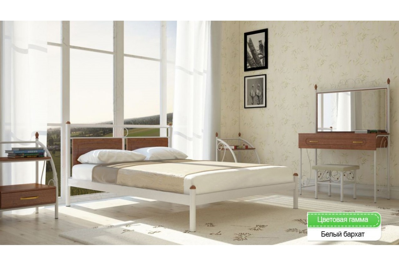 Металлическая кровать Николь от ТМ Металл-Дизайн недорого