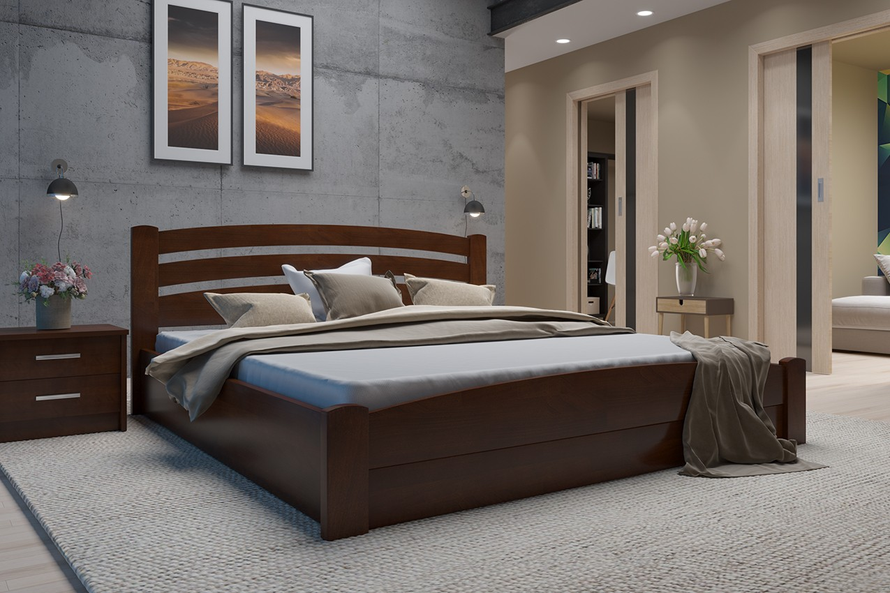 Фото Деревянная кровать Мерлинда от ТМ MUNGER