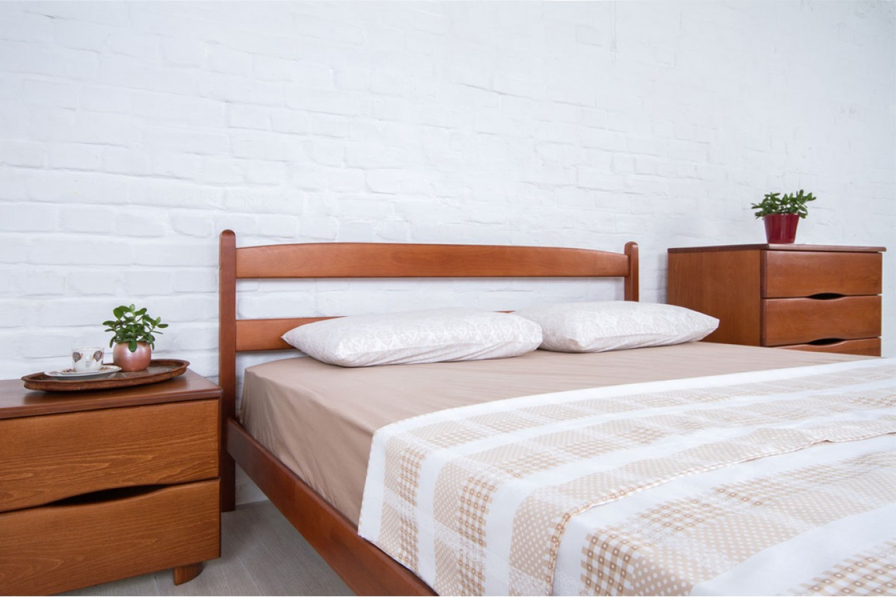 Деревянная кровать Лика без изножья от ТМ Олимп в Украине