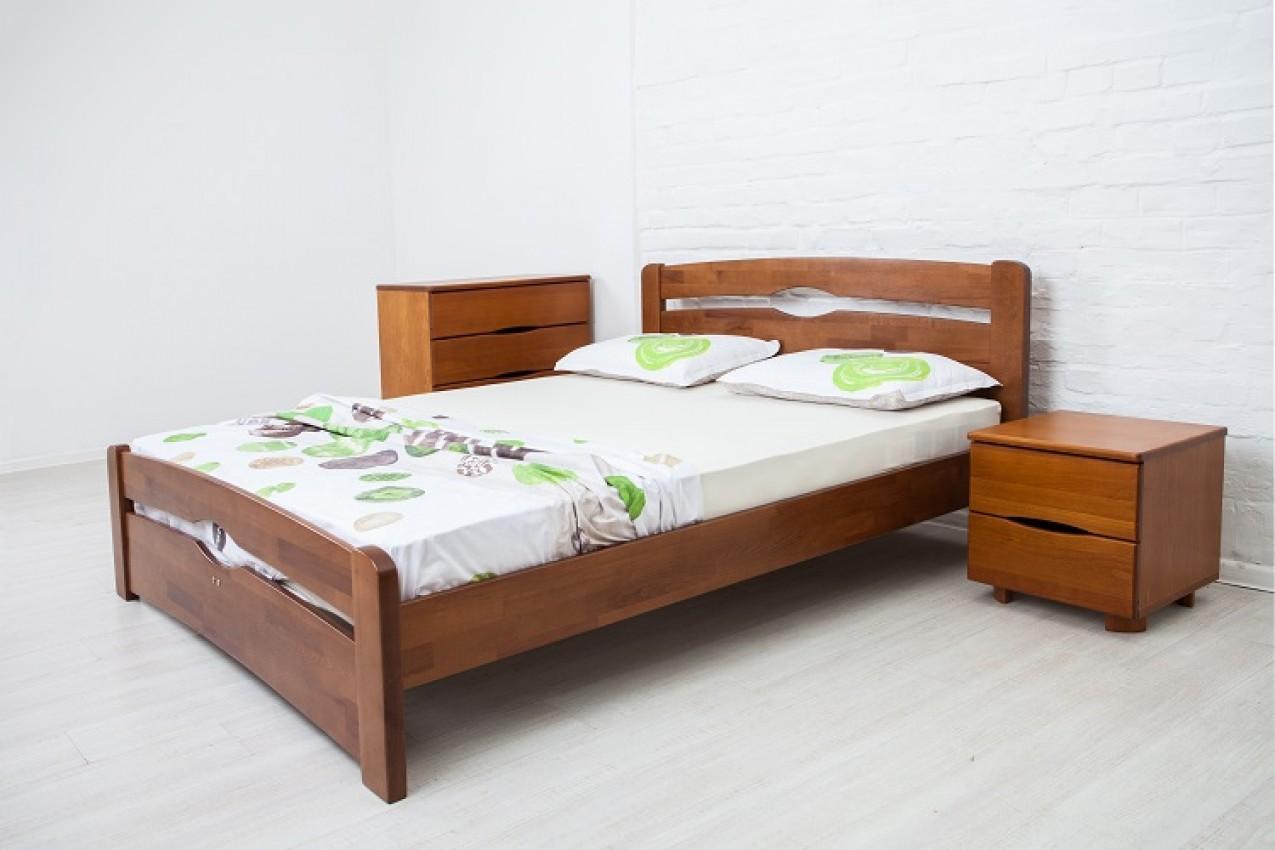 Деревянная кровать Нова с изножьем от ТМ Олимп в Украине