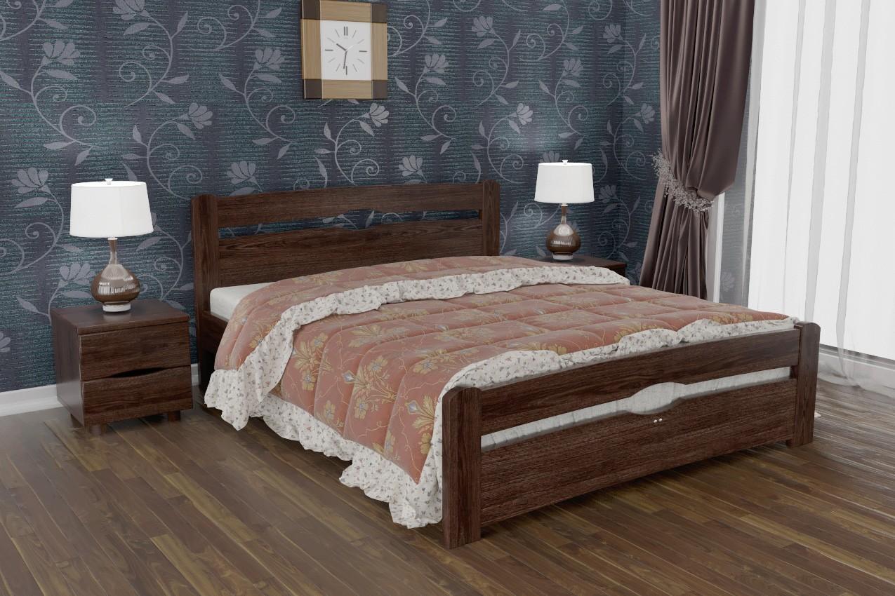 Фото Деревянная кровать Нова с изножьем от ТМ Олимп