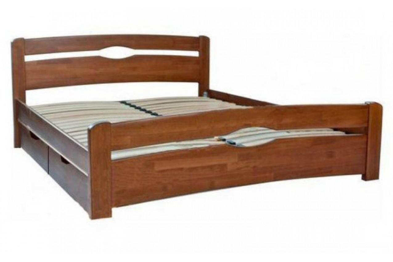 Деревянная кровать Нова с ящиками от ТМ Олимп недорого