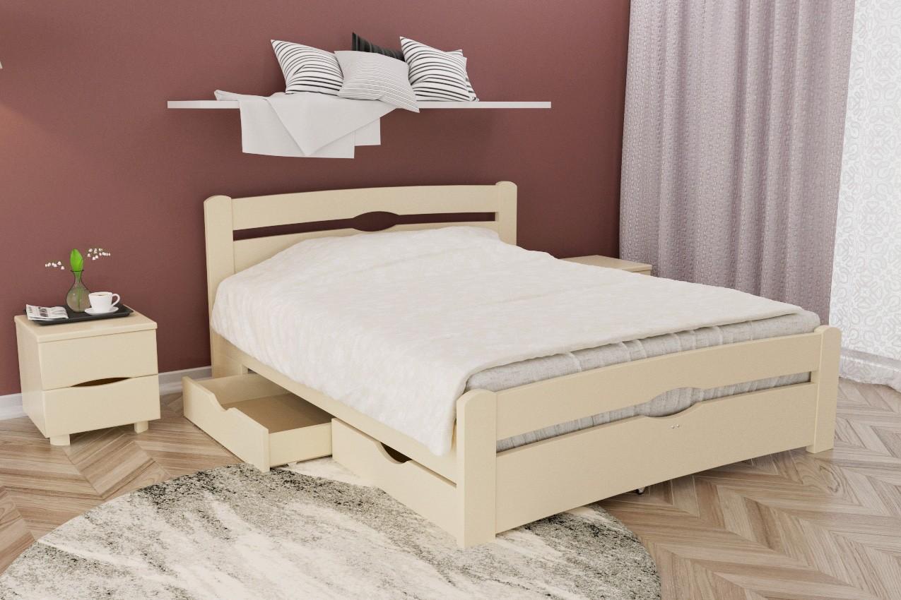 Фото Деревянная кровать Нова с ящиками от ТМ Олимп