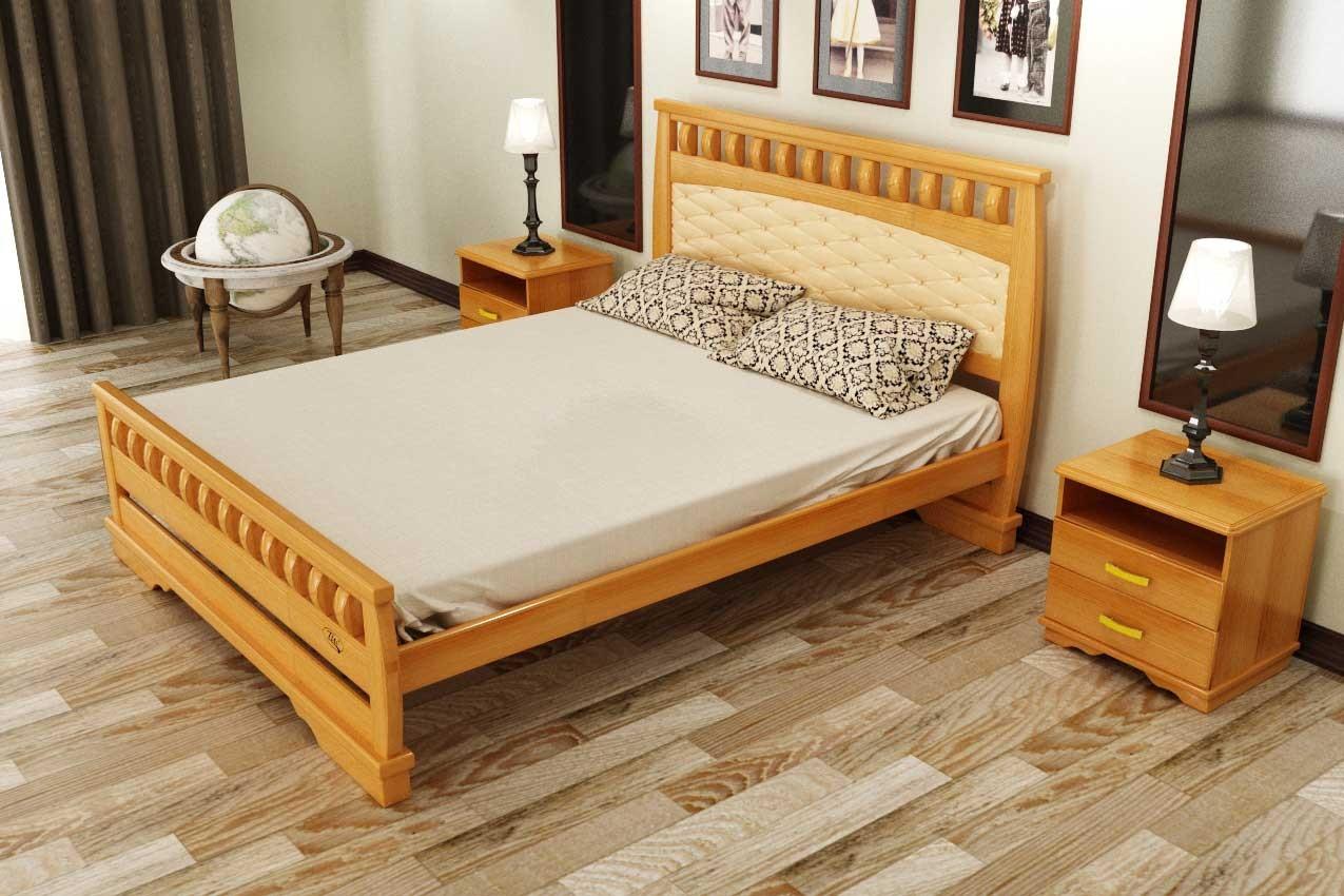 Фото Деревянная кровать Атлант 11 от ТМ ТИС