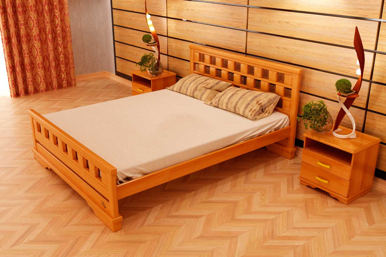 Фото Деревянная кровать Атлант 9 от ТМ ТИС