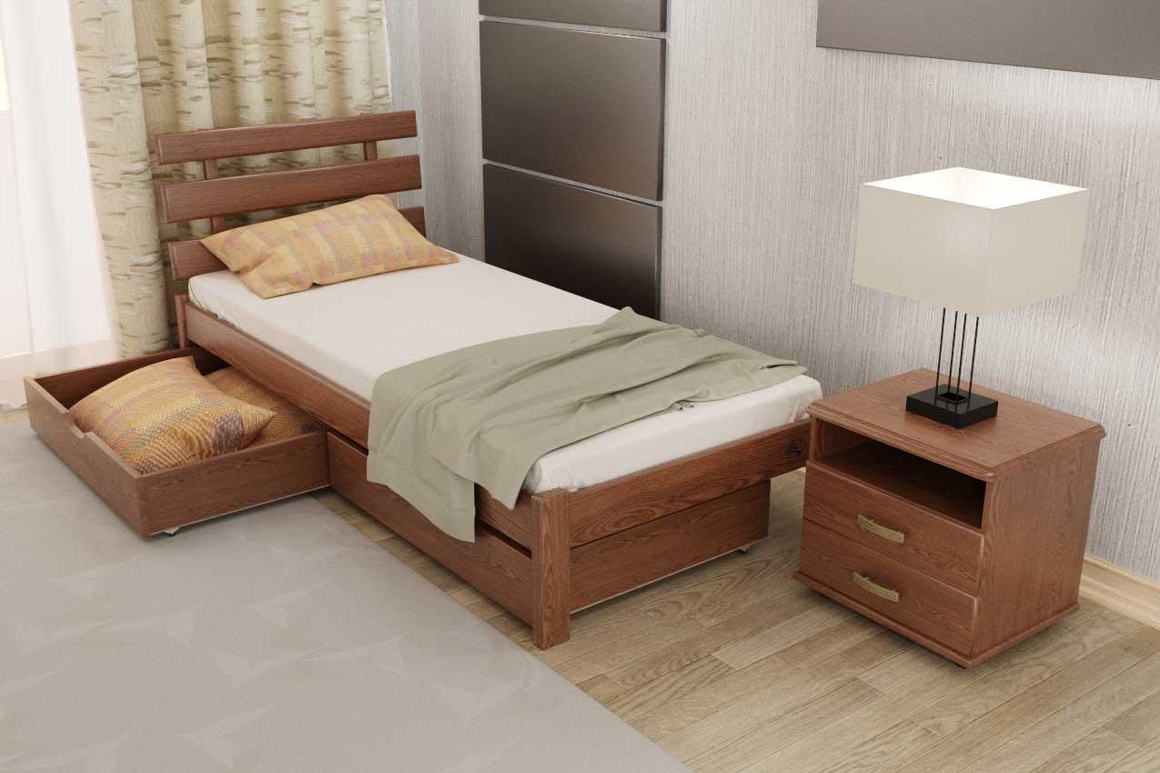 Деревянная кровать Домино от ТМ ТИС в Украине