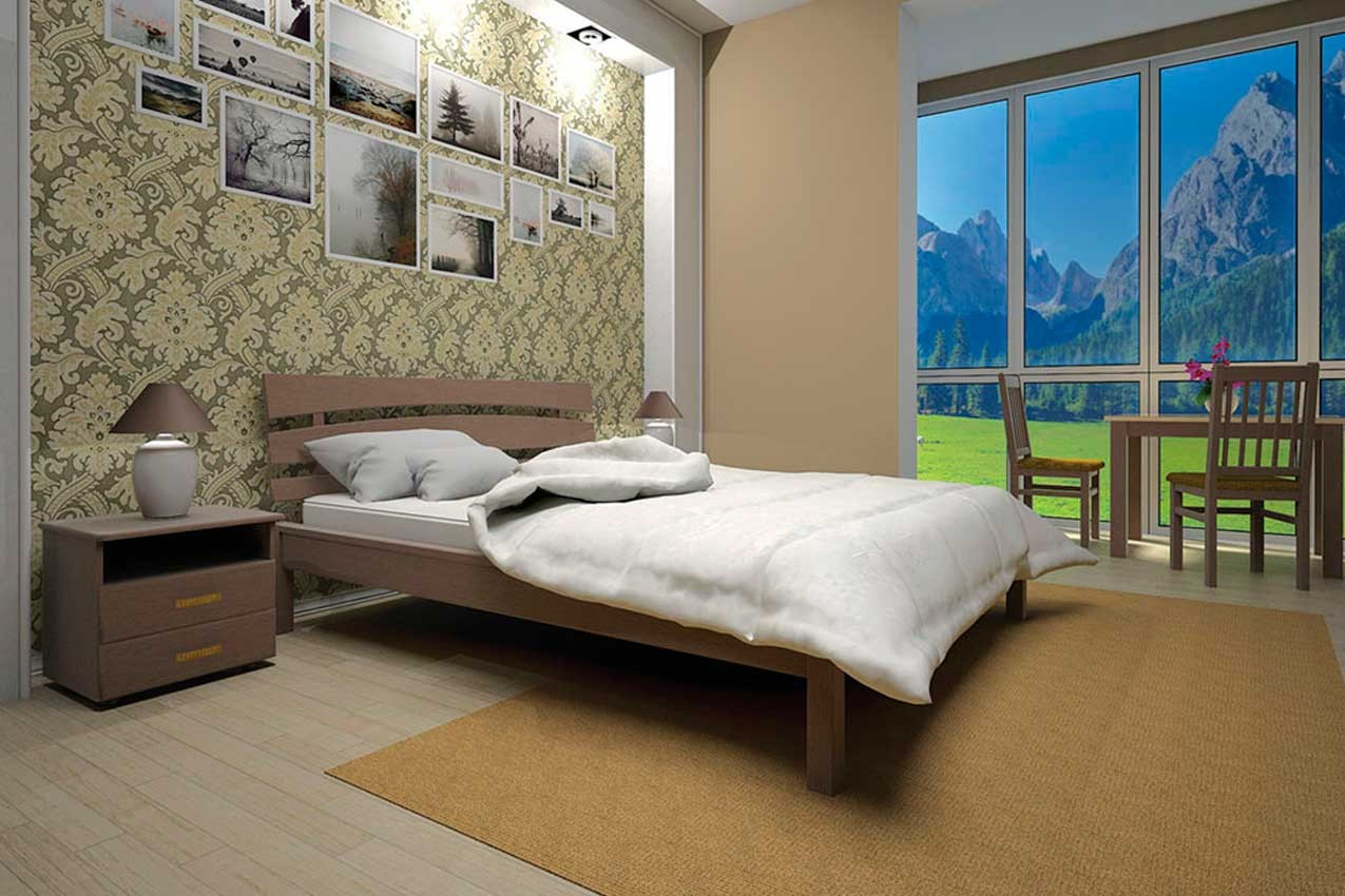 Деревянная кровать Домино-3 от ТМ ТИС недорого