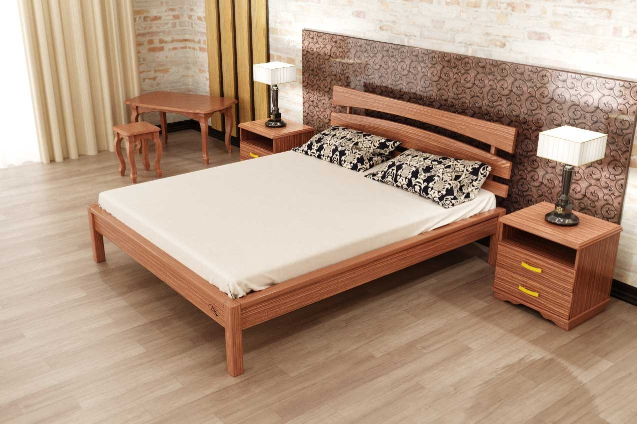 Фото Деревянная кровать Домино-3 от ТМ ТИС