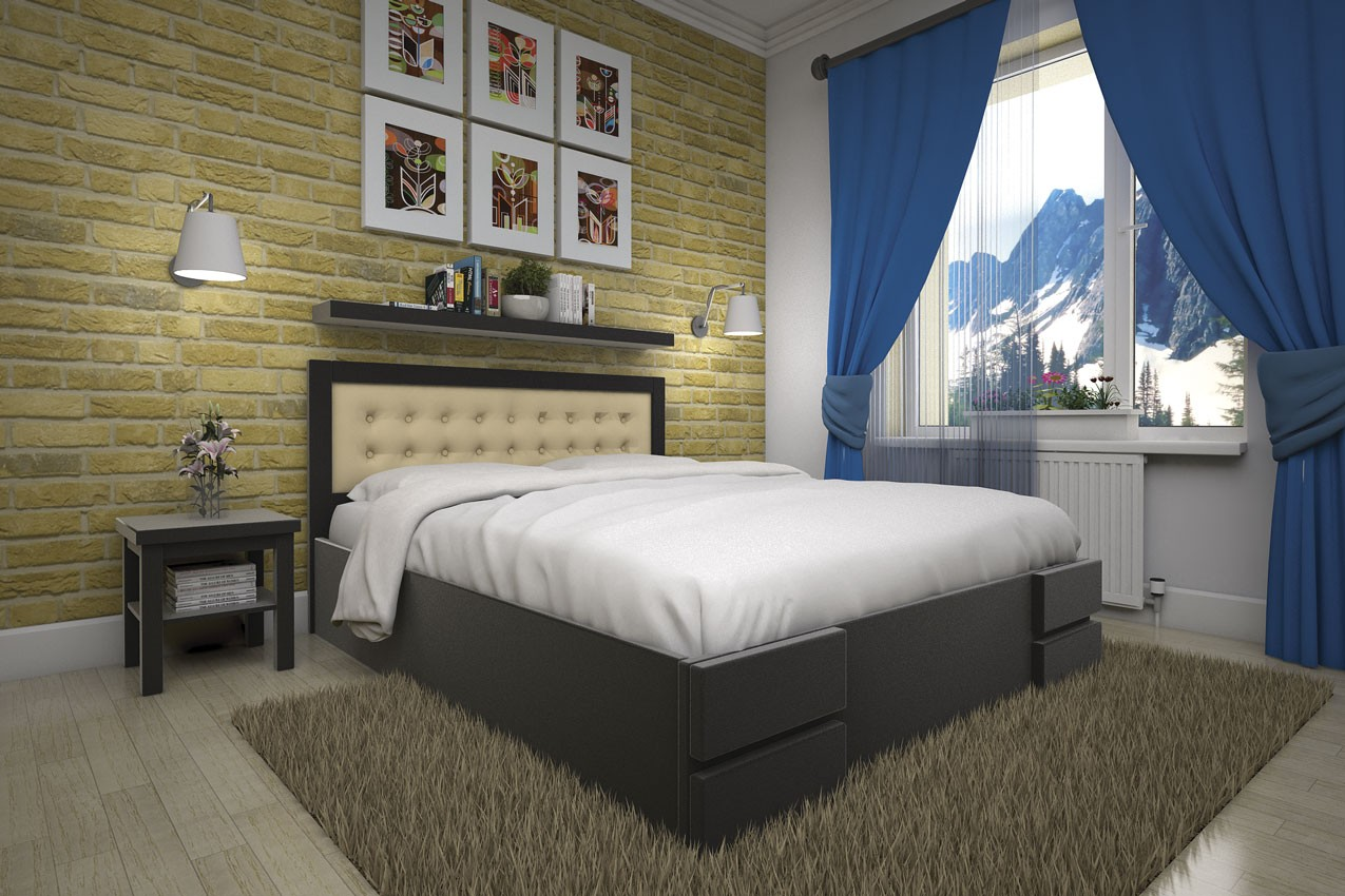 Деревянная кровать Кармен (с подъемным механизмом) от ТМ ТИС недорого