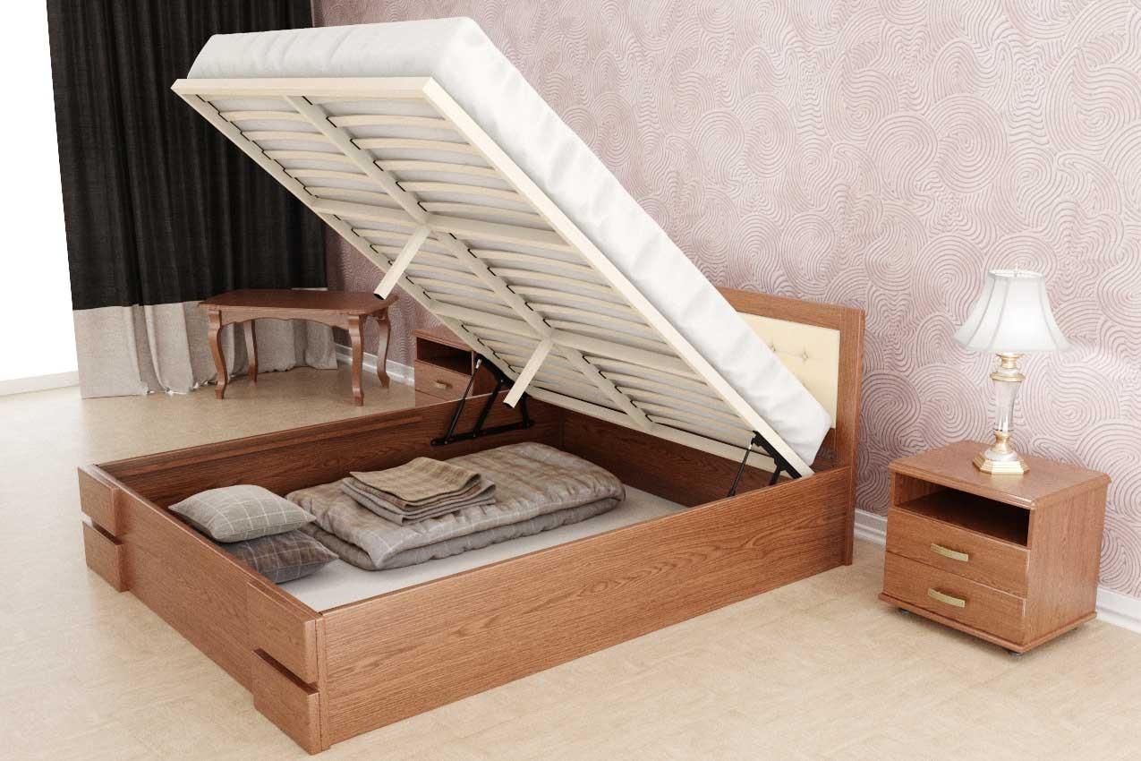 Деревянная кровать Кармен (с подъемным механизмом) от ТМ ТИС в Украине