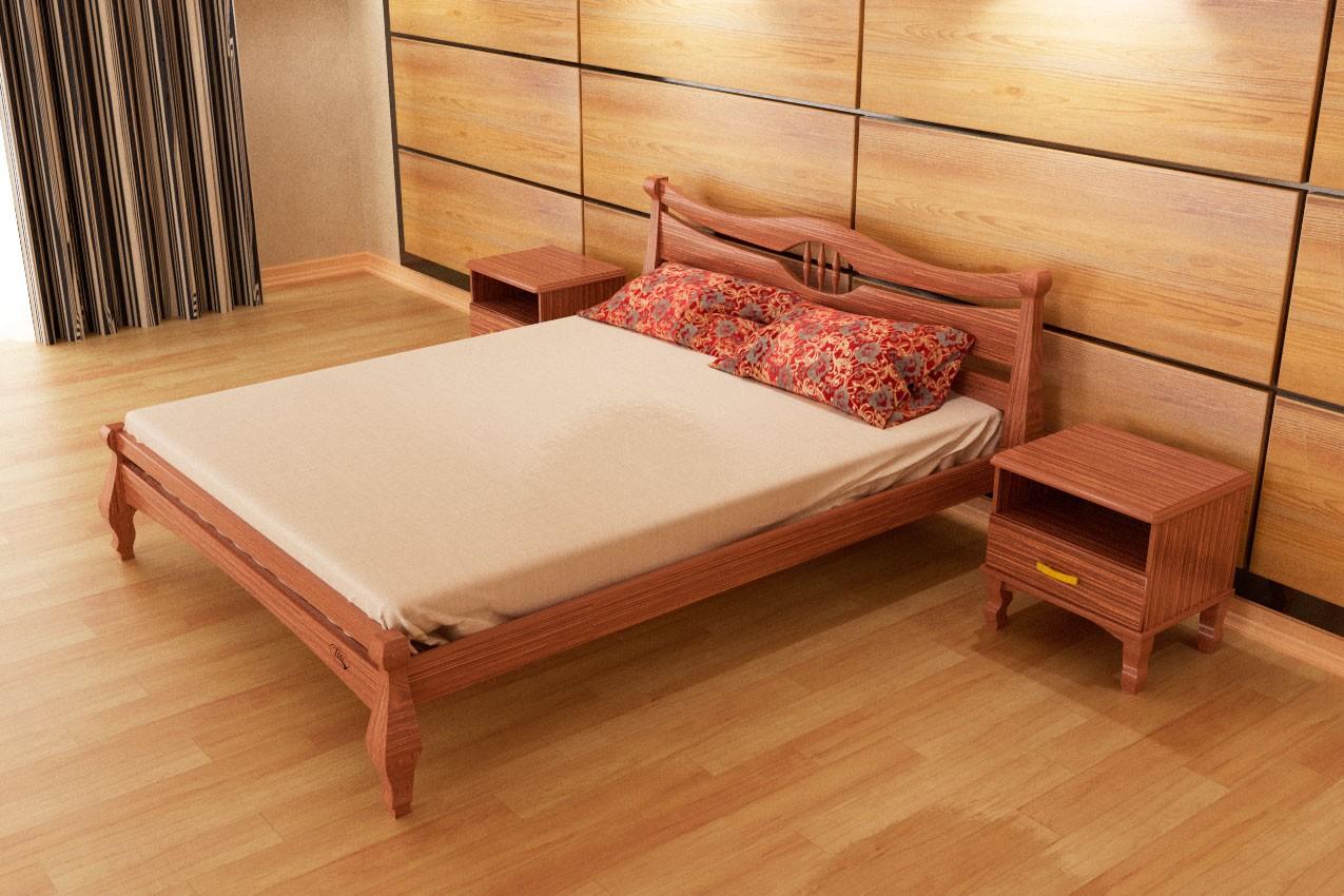 Фото Деревянная кровать Корона от ТМ ТИС