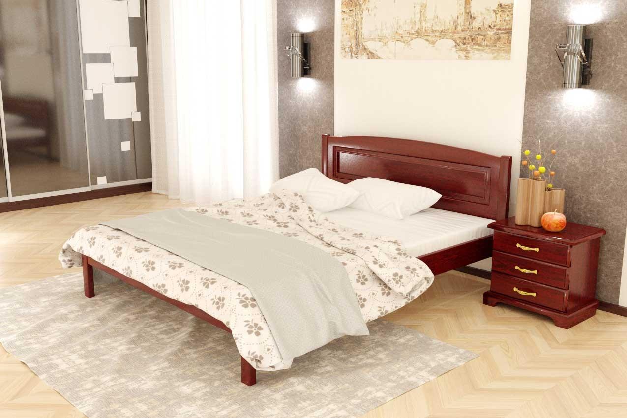 Фото Дубовая кровать Комфорт 2 от ТМ Закарпатье