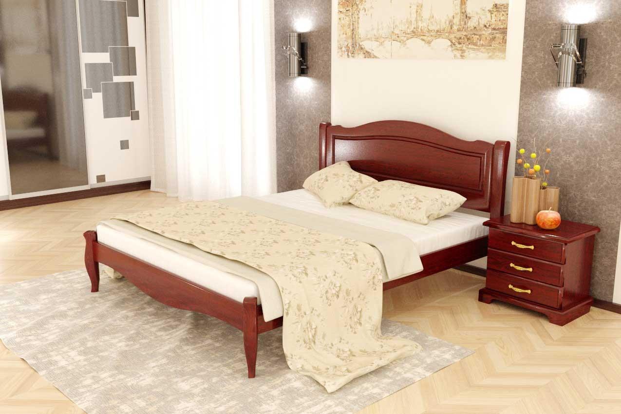 Фото Дубовая кровать Комфорт 4 от ТМ Закарпатье