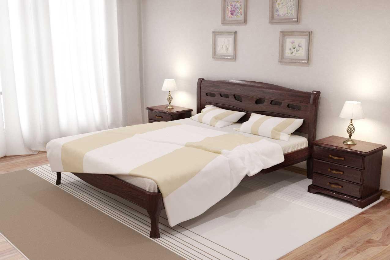 Фото Дубовая кровать Лагуна от ТМ Закарпатье