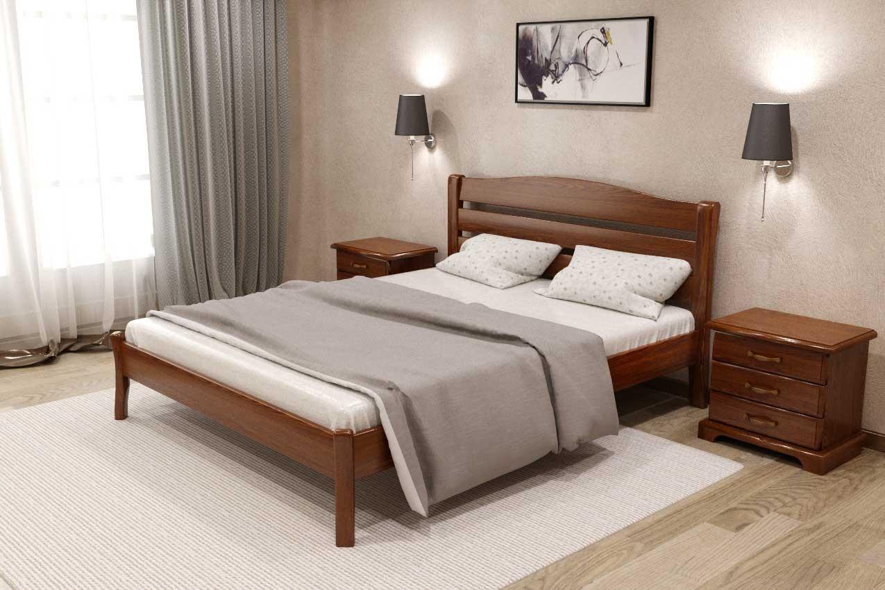 Фото Деревянная кровать Лилия от ТМ Закарпатье