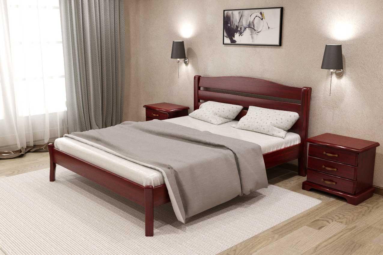 Фото Дубовая кровать Комфорт 3 от ТМ Закарпатье