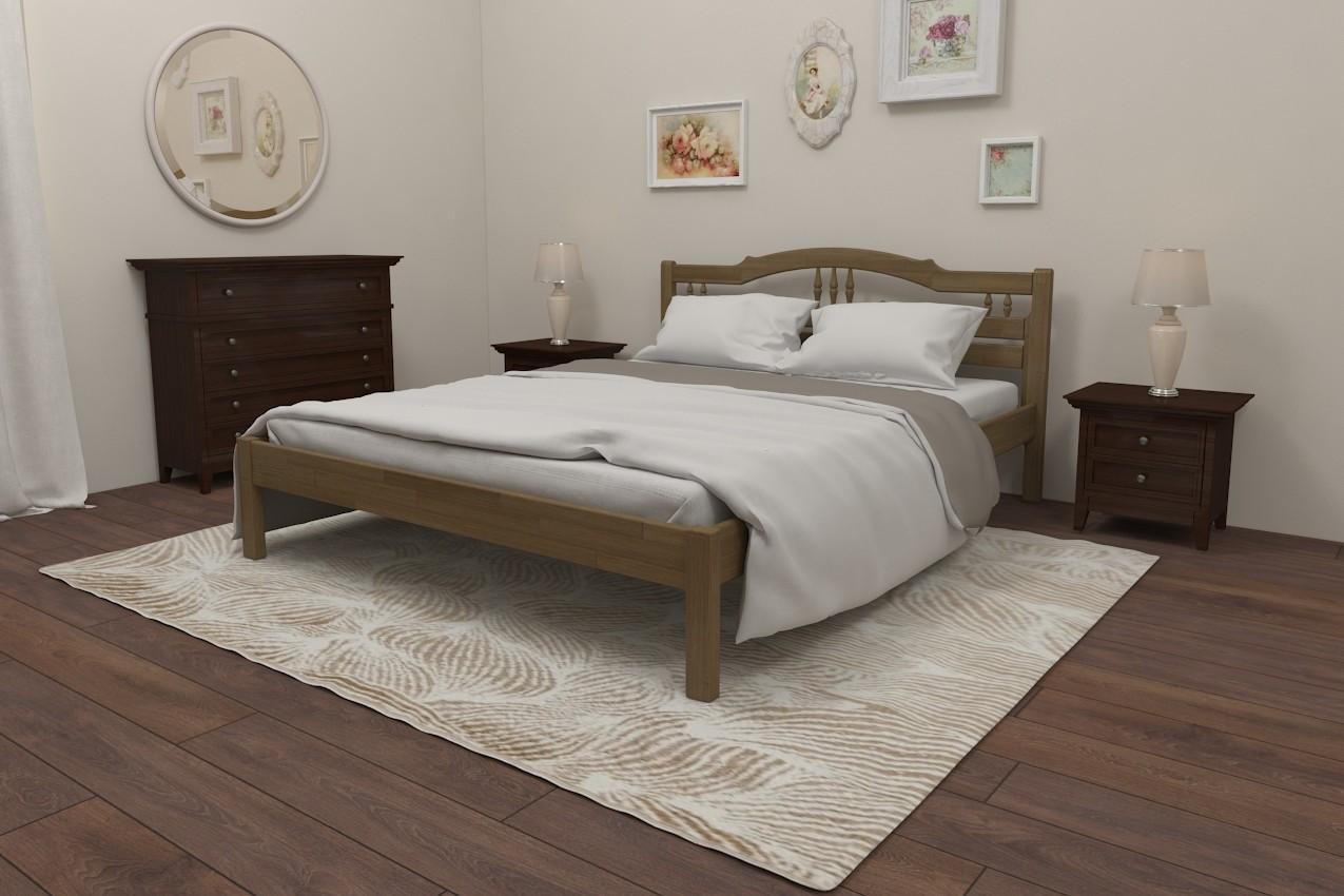 Фото Деревянная кровать Омелия от ТМ Karpatis