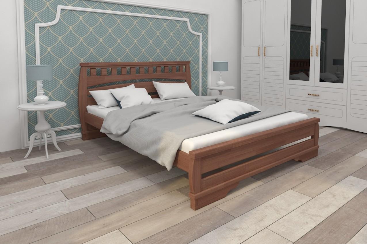 Фото Деревянная кровать Тамия от ТМ Karpatis